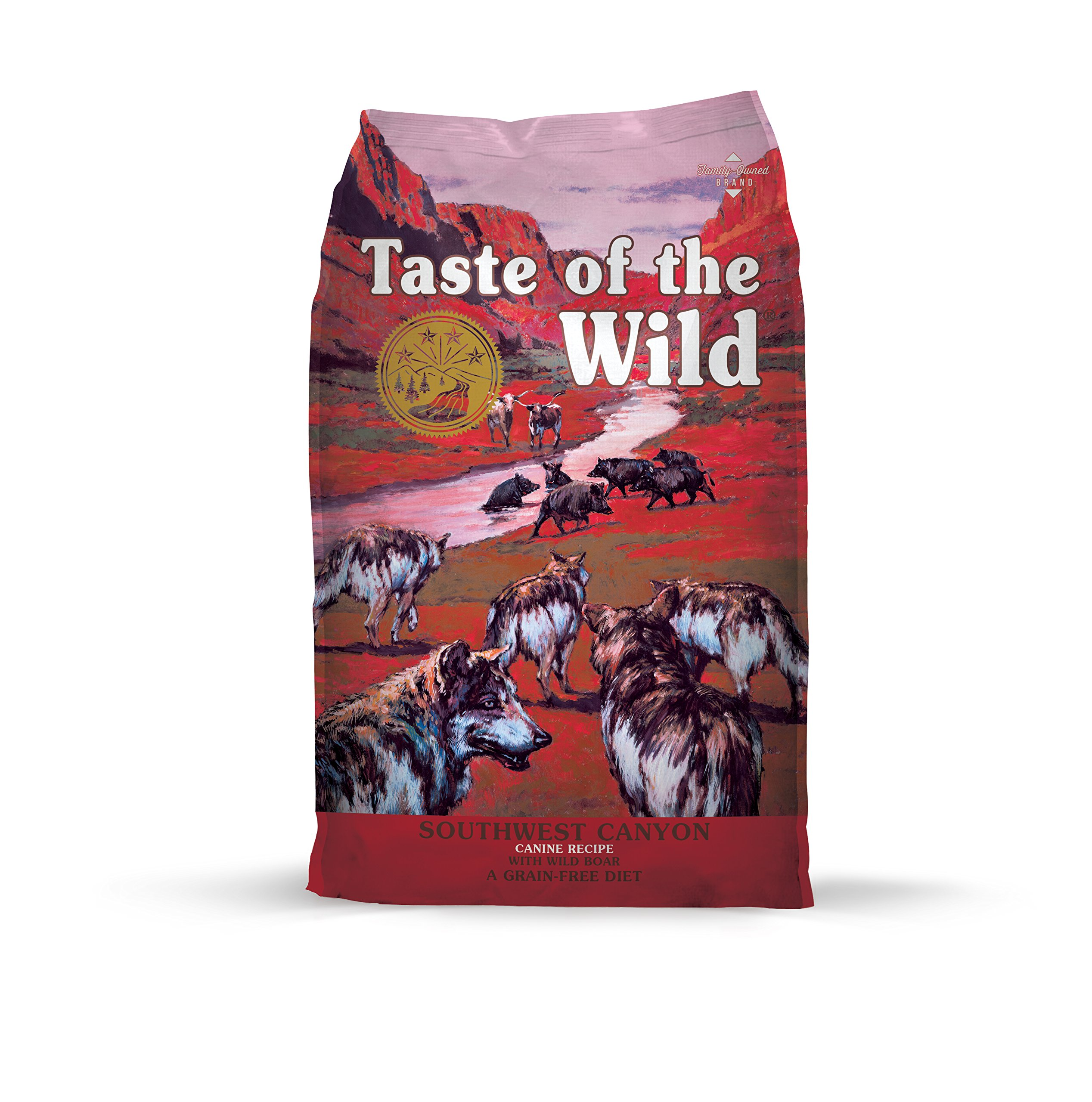 Taste of the Wild Southwest Canyon Grain Free Protein Real Meat Recipe Natural Dry Dog Food with Real Wild Boar 28lb