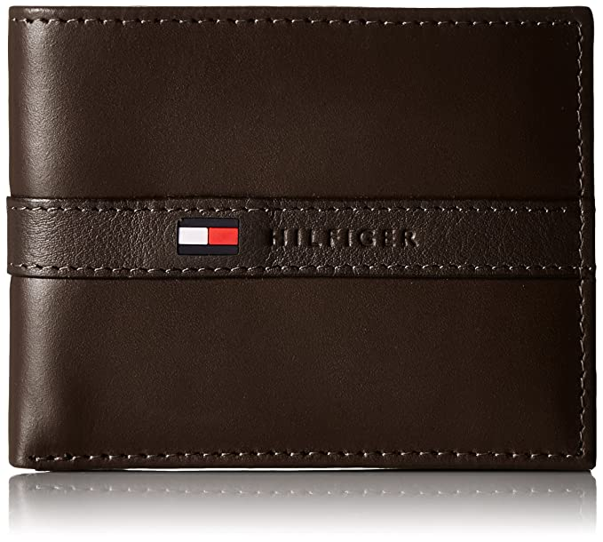 7bfe164cd1c Tommy Hilfiger Men's Ranger Leather Passcase Wallet with Removable Card  Holder,Brown,One Size