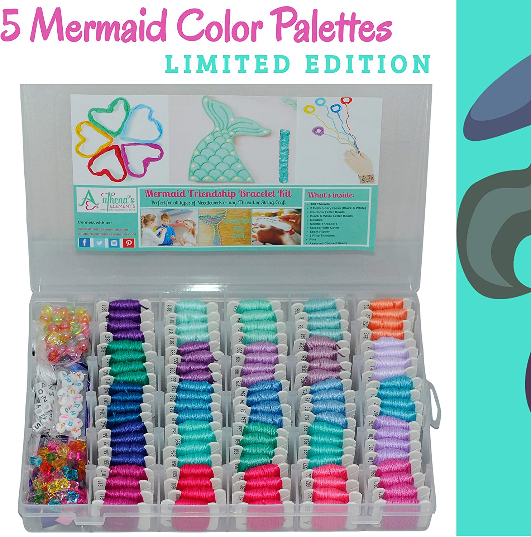 Bead Embroidery Kit Mermaid DIY Beadwork kit Beading kit Hand embroidery Beaded Stitching