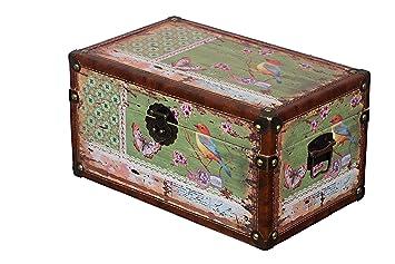 Sarah B Truhe Kiste Kd 1515 Deko Truhe Vogel Holztruhe Schatzkiste