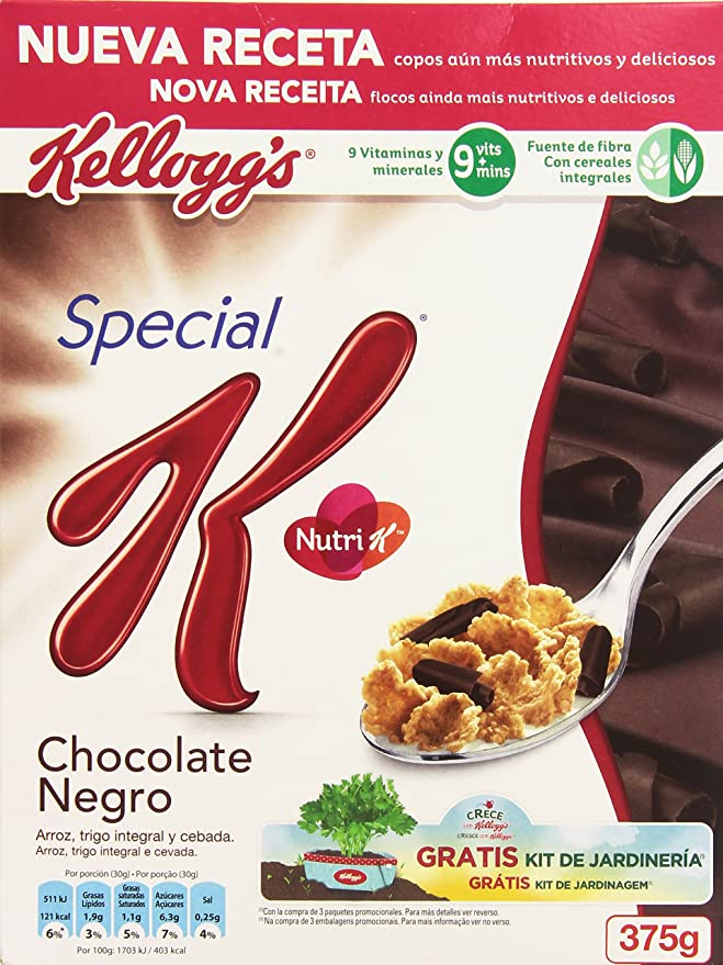 KelloggS Special K Cereales con Chocolate Negro - 375 gr: Amazon.es: Amazon Pantry