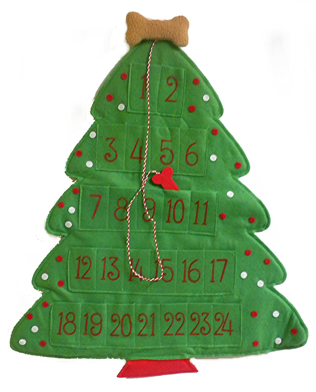 Amazon.com: Dog Puppy Christmas Tree-Shaped Hanging Countdown ...