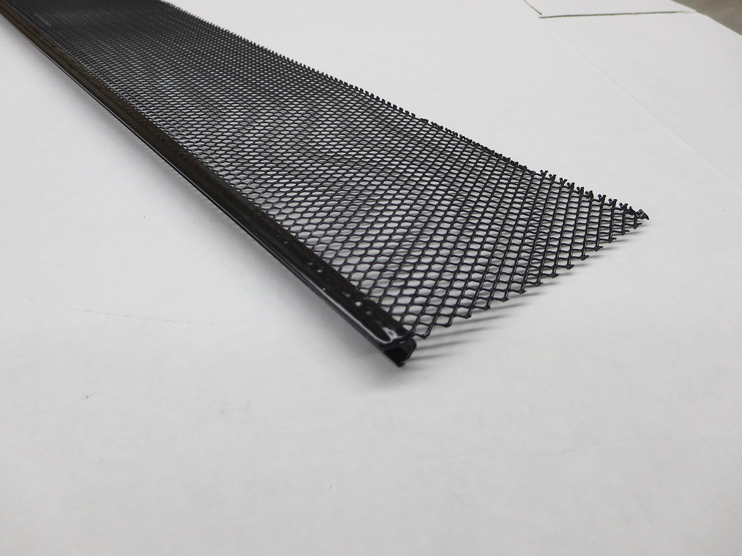 Aluminum Small Hole Drop In Leaf Guard for Gutters (6'', BLACK CASE)