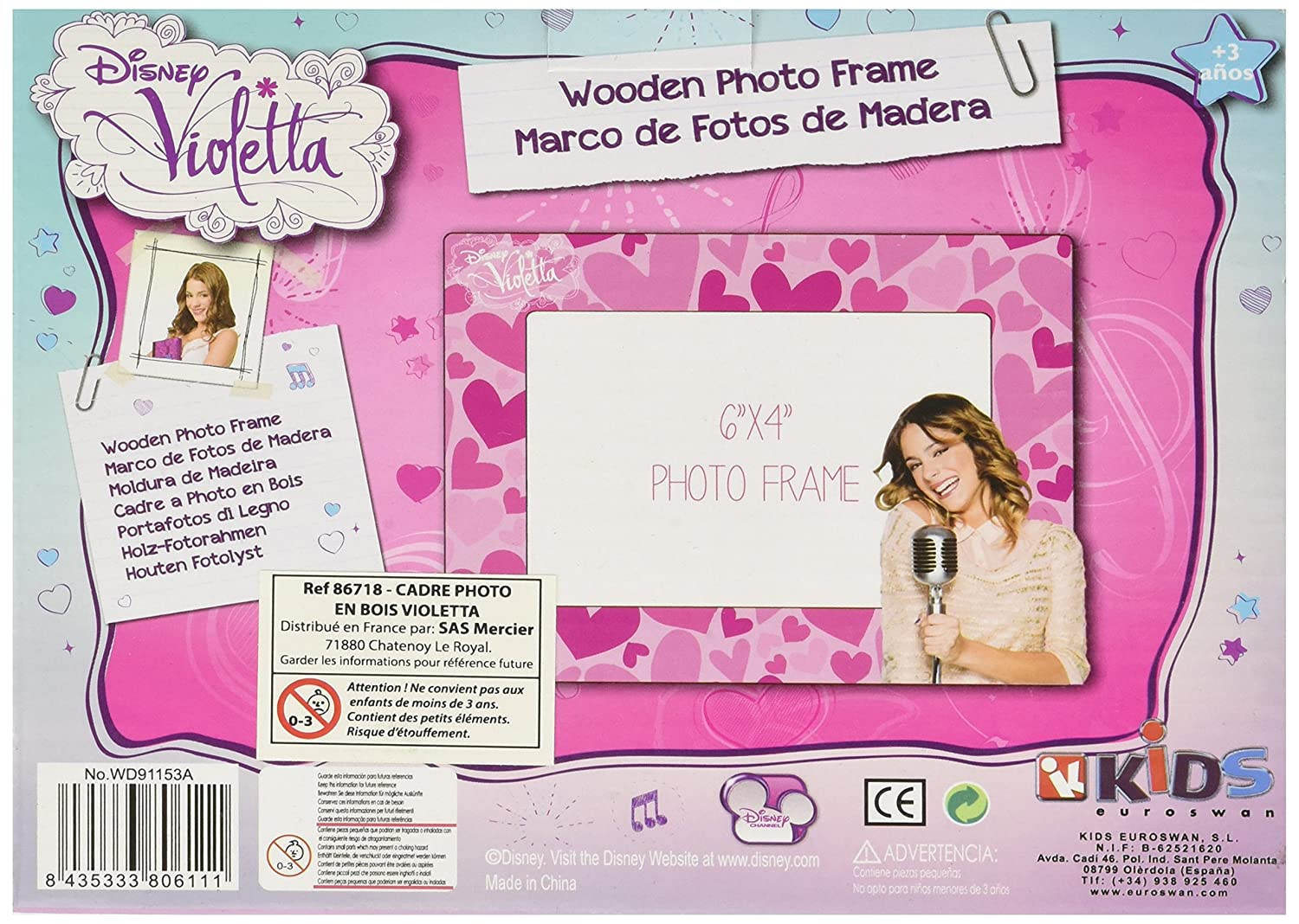 Disney Violetta Wooden Picture Photo Frames: Amazon.co.uk: Toys & Games