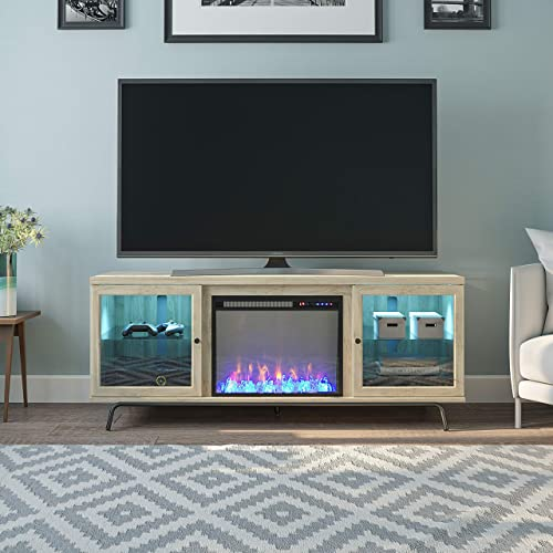 Ameriwood Home Sydney View Fireplace 70″