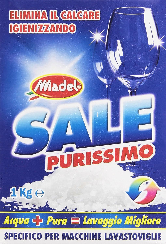 Madel Sale Purissimo - Sal granular para lavavajillas que limpia y elimina la cal - 1kg