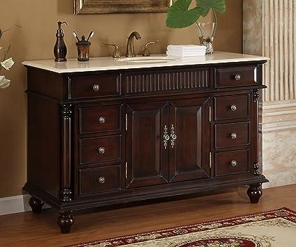 Wonderful 53u0026quot; Wood Solid Large Single Sink Brockton Bathroom Vanity Model K2261M