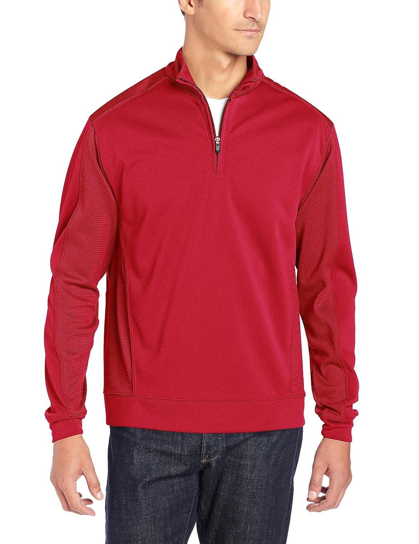 Cutter & Buck MCK08861 メンズ DryTecエッジ ハーフジップジャケット B006VRO07K L|レッド(Cardinal Red) レッド(Cardinal Red) L