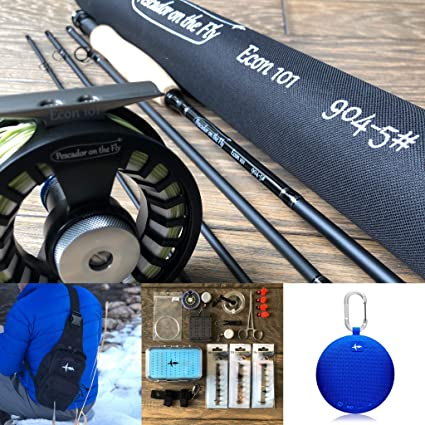 Fly Rod 9 FT 5 Weight 4 Section Fast Action Fly Fishing Rod And Reel Combo