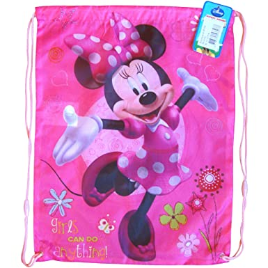 Boys   Girls Colourful Disney Drawstring Swim Gym Bag (Minnie Mouse ... ad6a0dc580e72