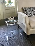 """Acrylic End Table 17 inches high x 17 wide, x 12 deep x 3/8"""" thick material"""