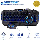 SportsBot SS301 Blue LED Gaming Over-Ear Headset Headphone