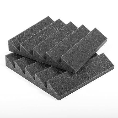 Espuma acústica. Pack de 12 planchas de alta calidad. Dimensiones 30x30 cm. Color gris antracita, auto extinguible. Paneles Absorbentes Acústicos con diseño ...