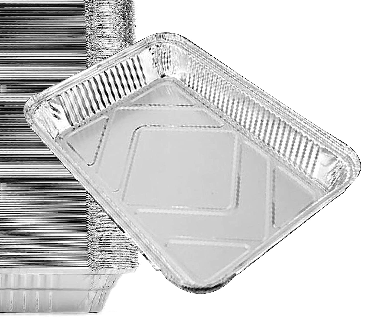 "15 Pack - Durable Chafing Pans, Half Size Roasting Pans - Disposable Aluminum Foil Steam Table Deep Pans, Buffet Pans Size - 10"" x 13"" by Spare Essentials"