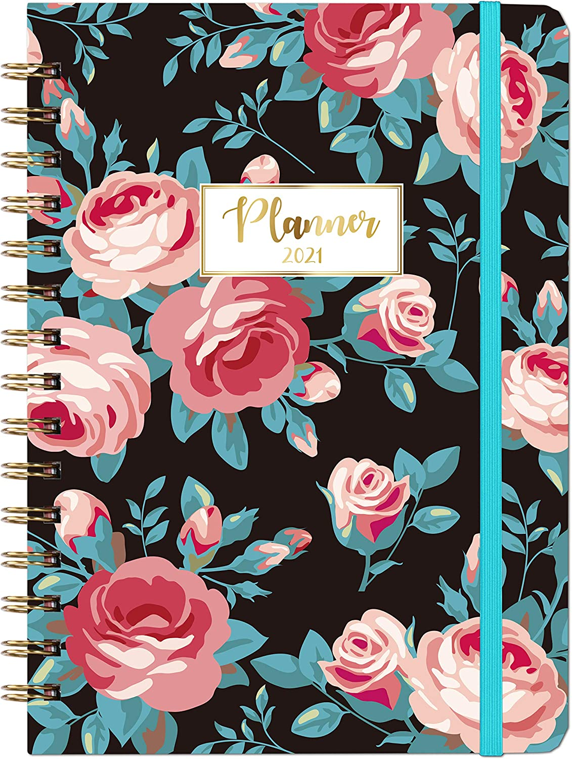 """Weekly Monthly Planner 2021 with Tabs 6.37/"""" x 8.46/"""" Planner 2021"""