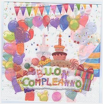 Takestop® Juego 36 piezas Servilletas de papel para fiestas ...