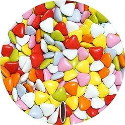 EinsSein® 500g Schokoherzen Mix ca 570 St. Hochzeitsmandeln Gastgeschenke Hochzeit schokolade kleine schokolinsen dragees dunkle Taufe herz candy bonboniere Hochzeitsmandeln schokoladen herzdragees Candy