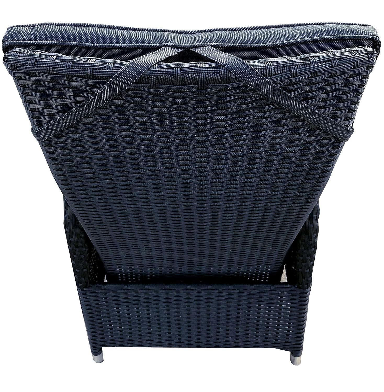 2 Stück Polyrattan Sessel mit Auflagen Gasdruck Gartensessel ...