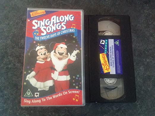 Singalong Songs - Twelve Days of Christmas [VHS]: Disney: Amazon ...