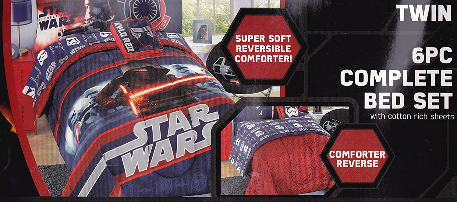 Star Wars 6 Pc Complete Bed Set with Cotton Rich Sheets