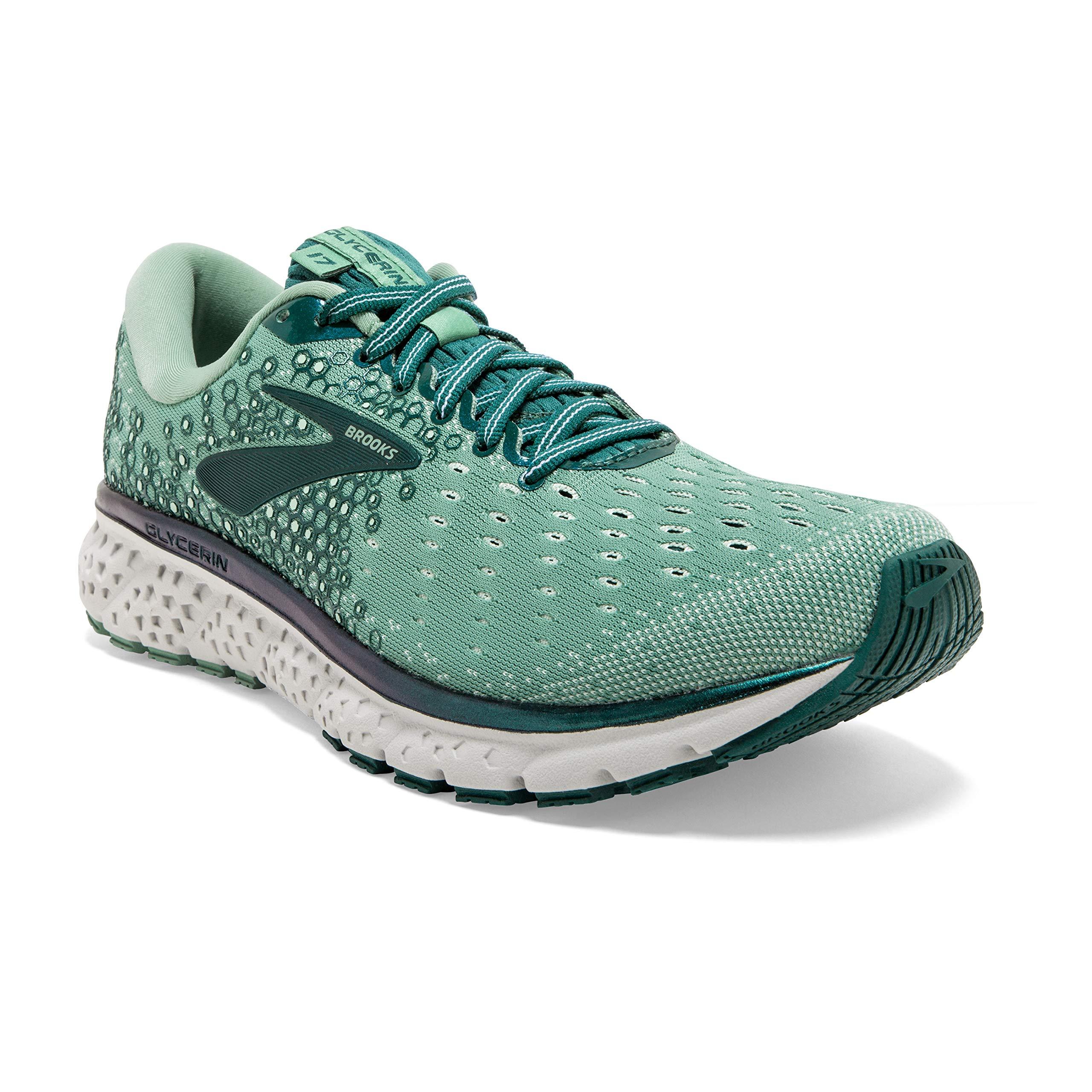 Brooks Womens Glycerin 17 Running Shoe - Feldspar/Aqua Foam/Grey - B - 6.0