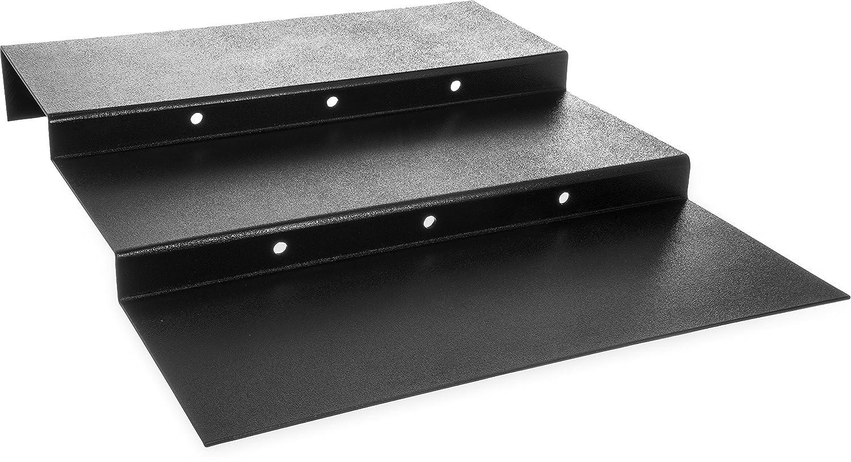 Carlisle 686303 ABS 3-Step Riser with Textured Satin Finish 23-1//2 W Black 1.84 H