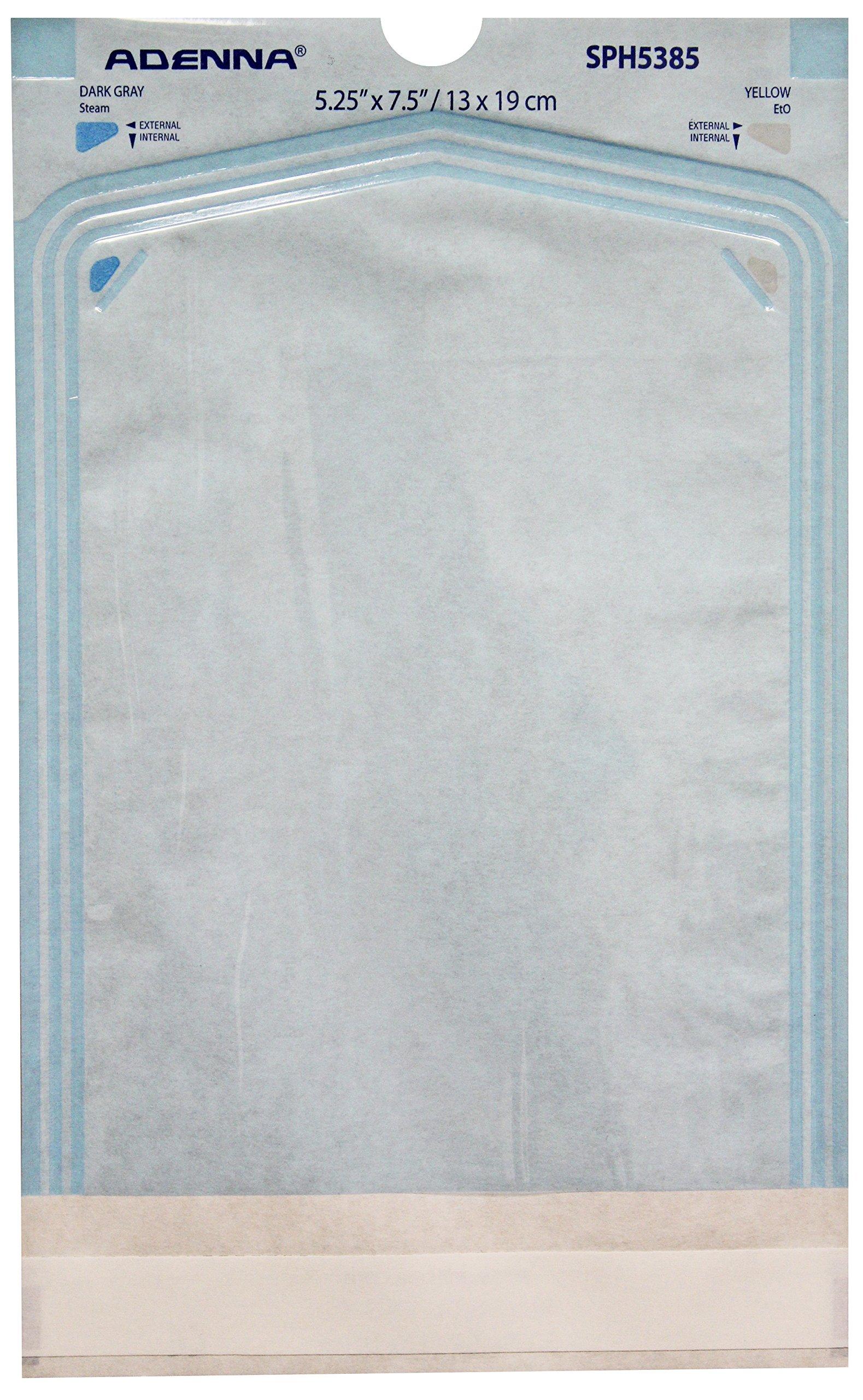 Adenna White Paper/Blue Tinted Film 5-1/4 X 7-1/2 Sterilization Pouch (Box of 200)
