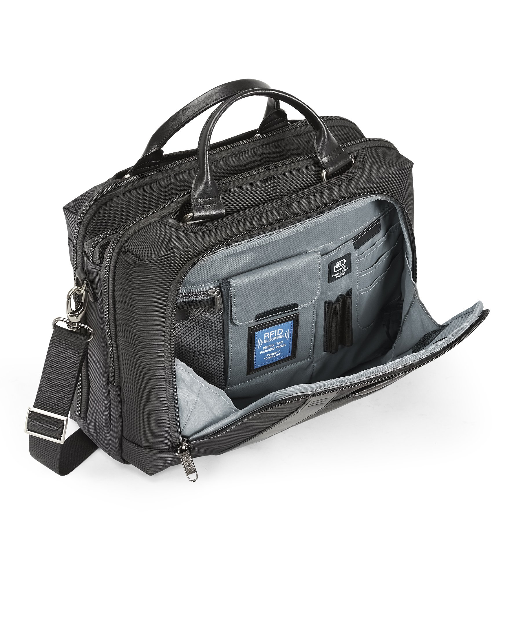 Travelpro Crew Executive Choice 2 Pilot Under-Seat Brief Bag, 16-in with USB port by Travelpro (Image #6)
