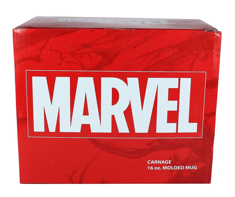 Carnage Classic Imports 91714 Thor Spiderman Carnage Venom Officially Licensed Marvel Superhero Molded Mugs 16oz