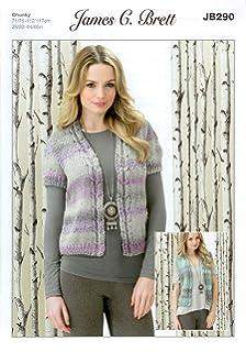 1afd3c2373a7 James Brett Knitting Pattern JB290 Ladies Waistcoats to knit in Marble  Chunky