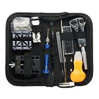 Yaetek 120pz Kit di riparazione orologi, Eventronic Professional Spring Bar Tool set Watch Band Link pin Tool set con custodia da trasporto