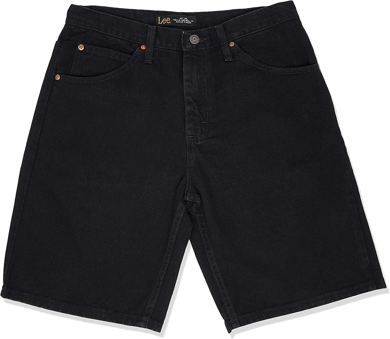 33 Double Black Lee Mens Regular Fit Denim Short