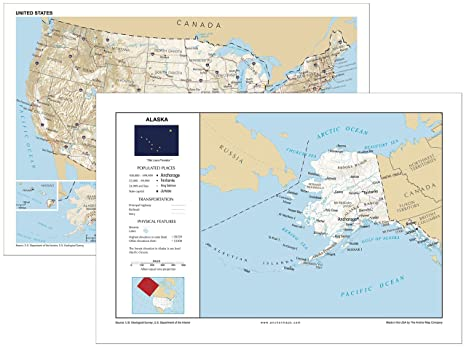 Amazon.com : 13x19 Alaska and 13x19 United States General ... on cities in chicago map, cities in las vegas map, cities in colombia map, cities in oakland map, cities in romania map, cities wyoming map, cities new hampshire map, cities missouri map, cities in alberta map, cities in the middle east map, cities kentucky map, cities in wi map, cities in delaware map, cities in mass map, cities arkansas map, cities in ancient india map, cities idaho map, cities australia map, cities oregon map, cities in georgia area,