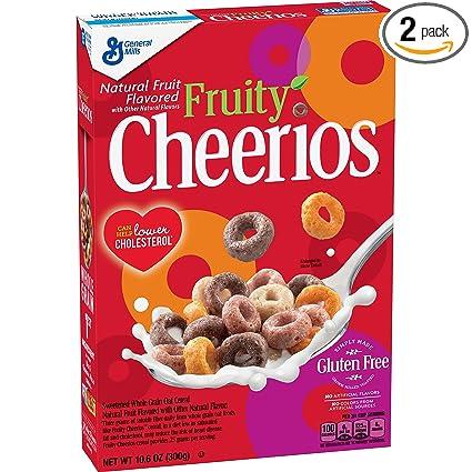 Fruity Cheerios, cereales con avena, sin gluten, 10.6 oz ...