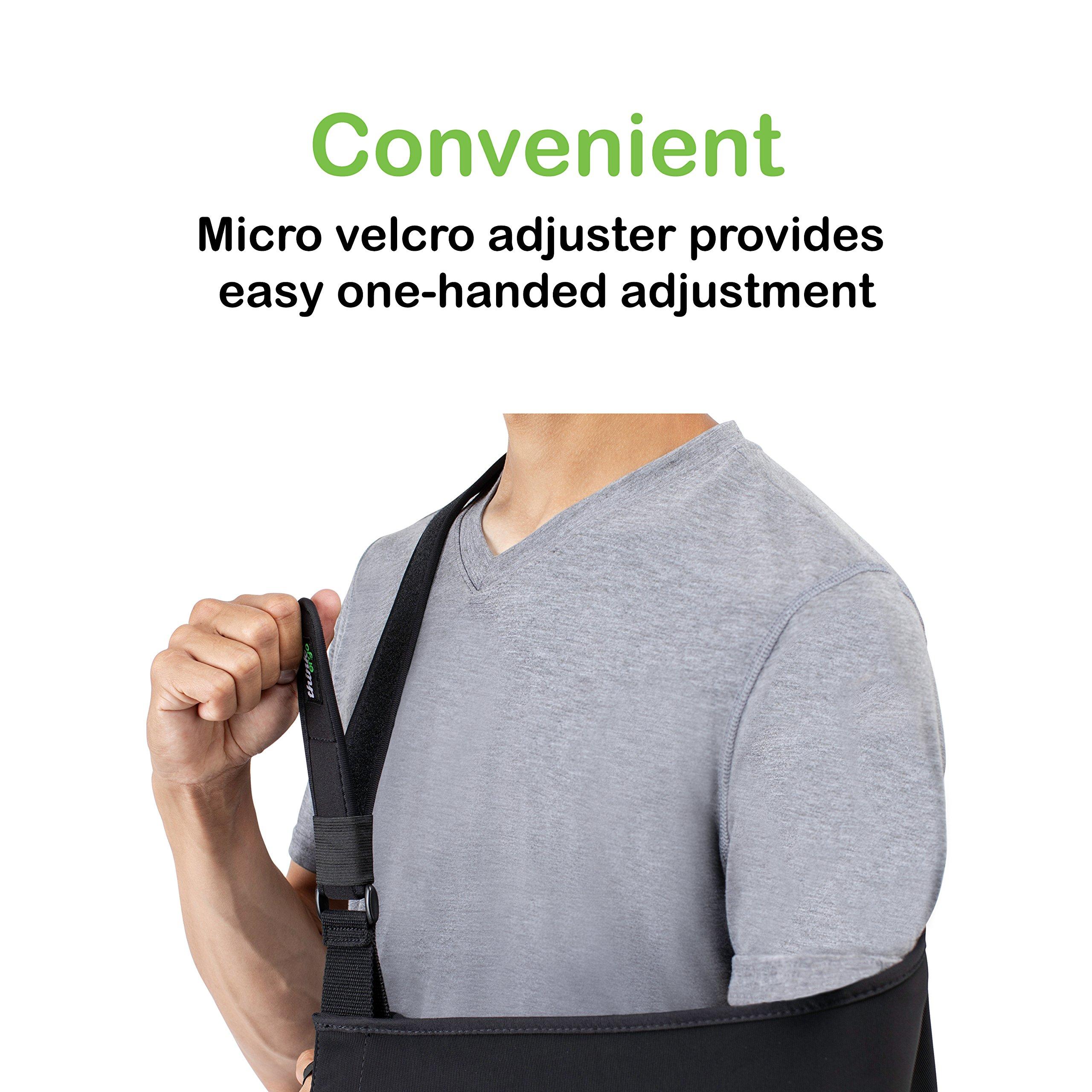 Think Ergo Arm Sling Sport - Lightweight, Breathable, Ergonomically Designed Medical Sling for Broken & Fractured Bones - Adjustable Arm, Shoulder & Rotator Cuff Support (Adult) by Think Ergo (Image #5)