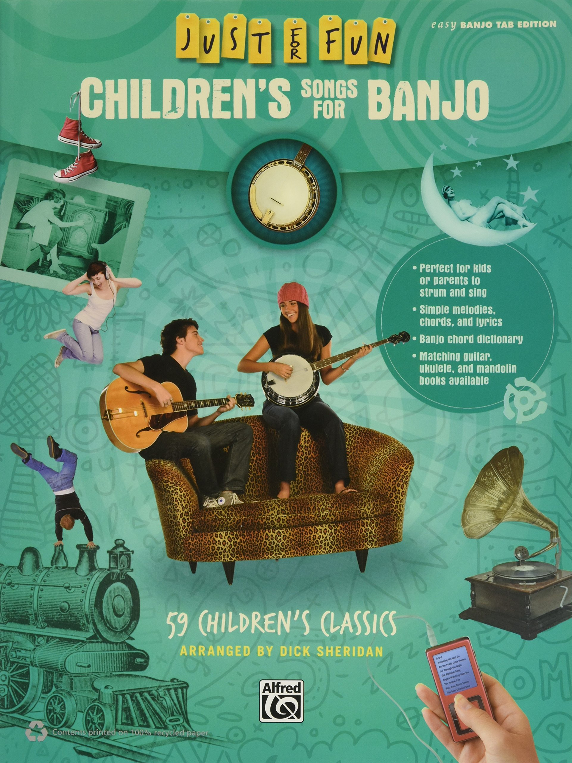 Just for Fun -- Children's Songs for Banjo: 59 Children's Classics