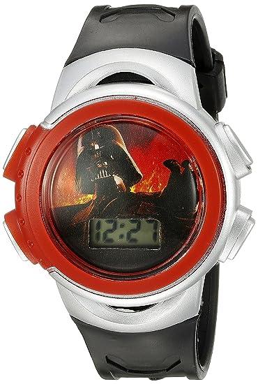 Darth Star Vader Wars Kids' Black Digital Display Quartz Watch VUzMqSp