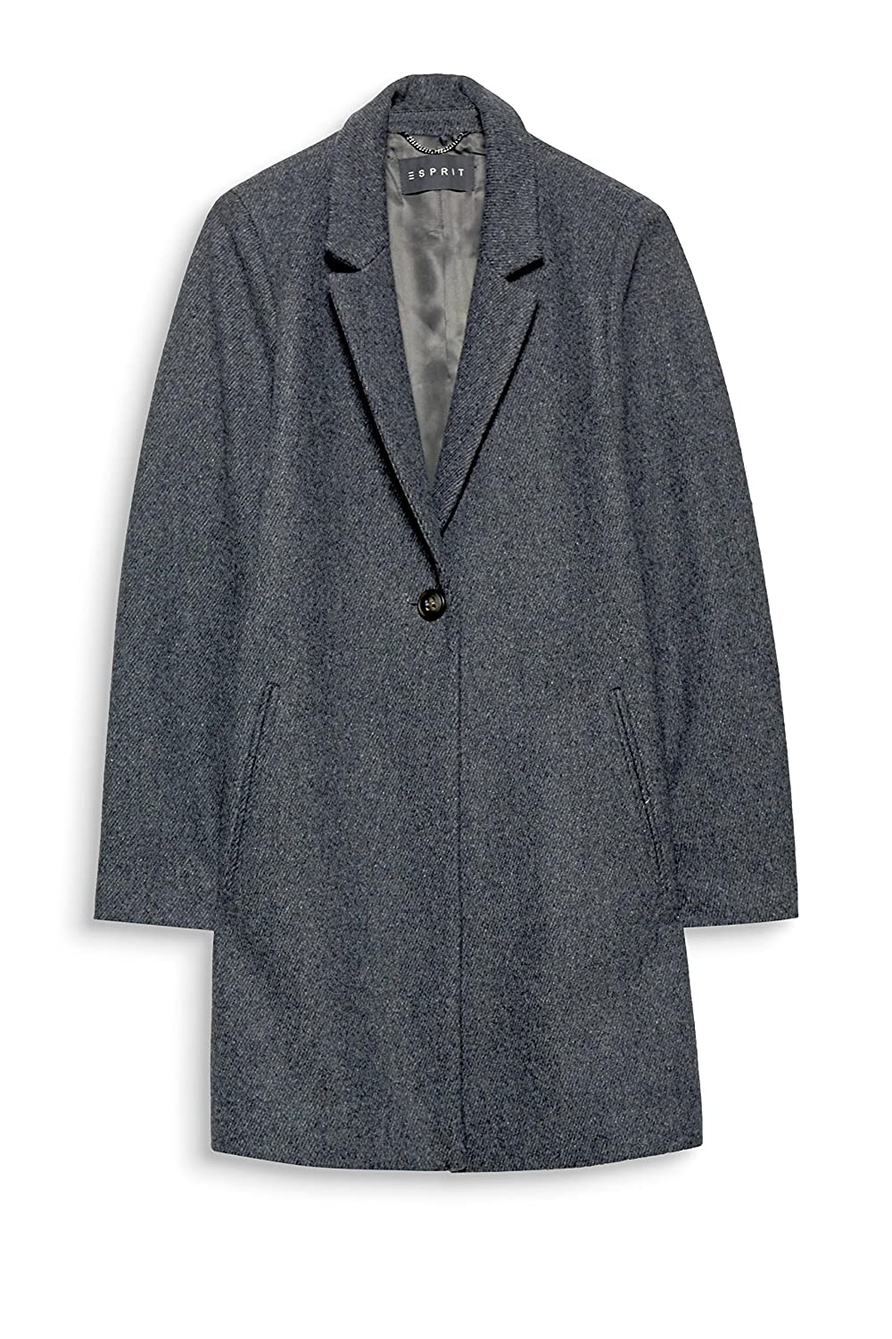 ESPRIT Collection 107eo1g026, Abrigo para Mujer, Gris (Medium Grey 5 039), 34: Amazon.es: Ropa y accesorios
