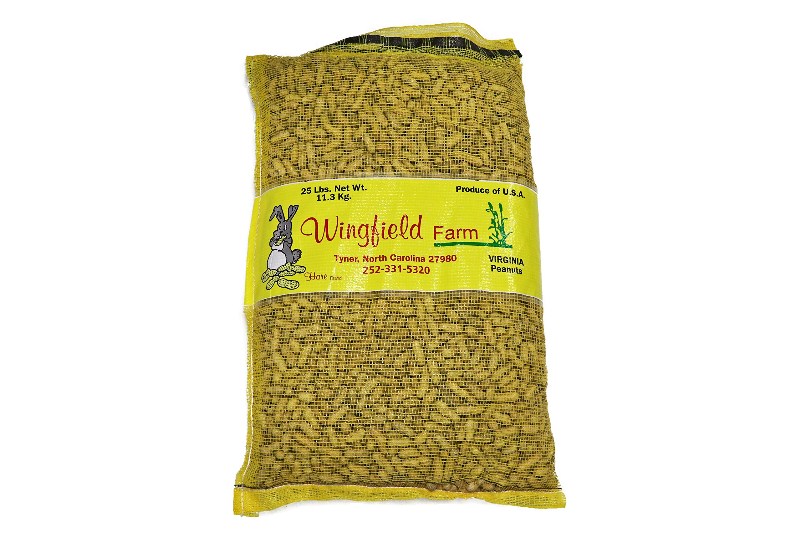 Wingfield Farm 25 Pound Virginia in Shell Animal Peanuts (25lb Bag) for Wildlife