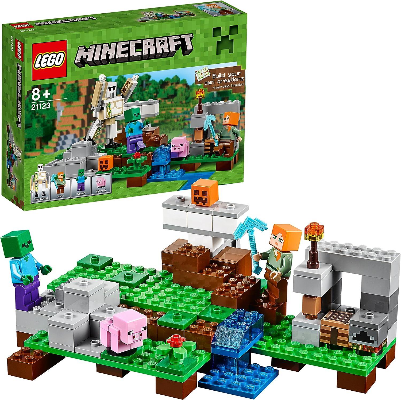 LEGO Minecraft - El Gólem de Hierro, Juguete de Construcción Basado en el VideoJuego (21123): Amazon.es: Juguetes y juegos