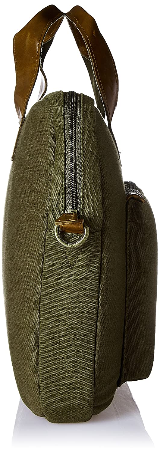 1cd9d13f03a3 Ruosh Canvas 38 cms Green Messenger Bag (mes-bag-5533)  Amazon.in  Bags