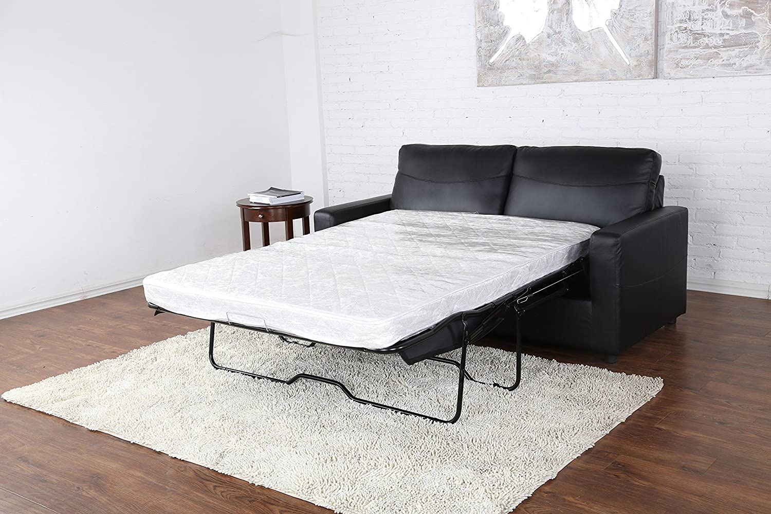 Amazon.com: Bonded Leather Sleeper/Pull Out Sofa And Bed: Kitchen U0026 Dining