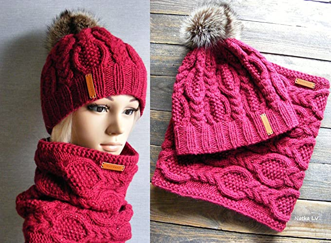 Amazon.com  Knit hat and cowl 45521db4cce9