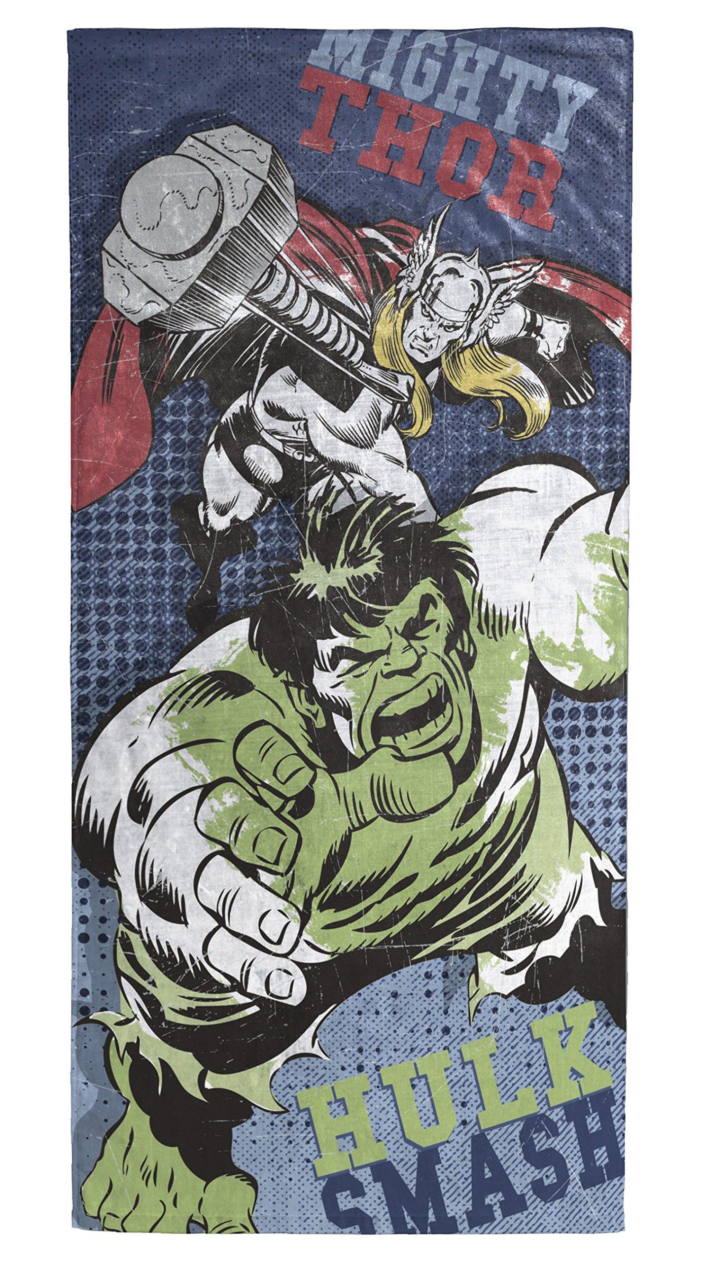 Marvel Avengers Hulk/Thor Soft Cotton 28'' x 58'' Bath, Pool, Beach Towel