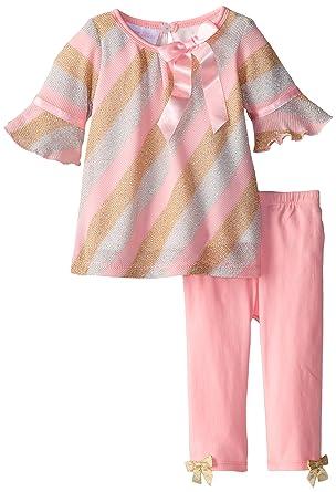 Amazon Bonnie Baby Baby Girls Newborn Lurex Knit Bias Stripe