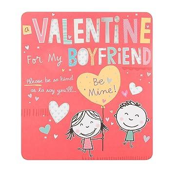 Hallmark Boyfriend Valentine S Day Card Be Mine Medium Amazon
