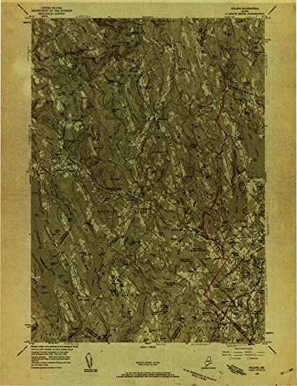 Amazon Com Maine Maps 1956 Poland Me Usgs Historical Topographic