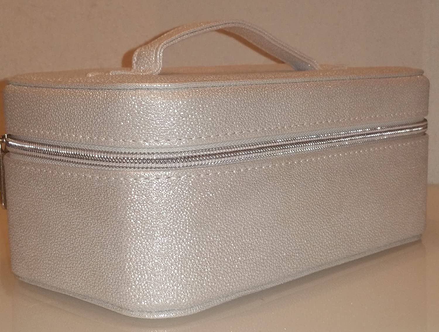 44a080321ea5 Amazon.com : Bareminerals Large Cosmetic Travel Case Bag Shiny White ...