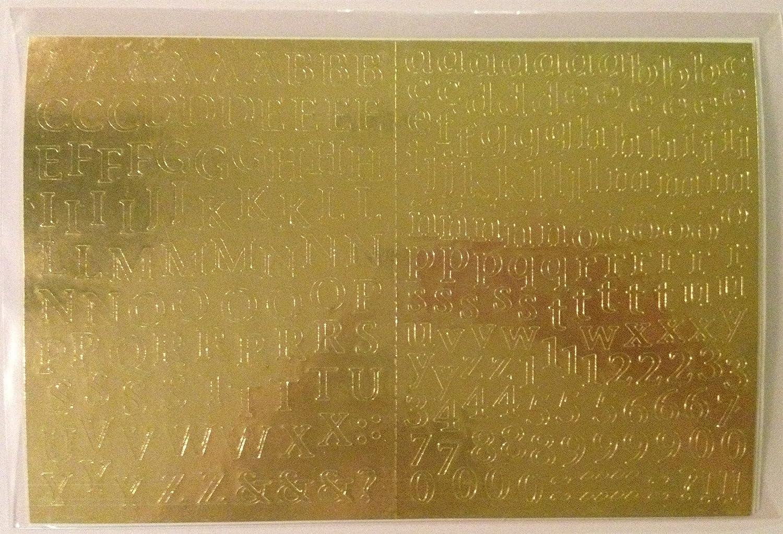 CREATIVE MEMORIES Mini Abc 123 Alphabet Stickers GOLD
