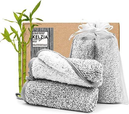Kelzia Toallas Desmaquillantes Reutilizables - de CARBÓN ACTIVO de ...